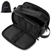 Elviros Toiletry Bag for Men, Large Travel Shaving Dopp Kit Water-resistant Bathroom Toiletries Organizer PU Leather Cosmetic Bags