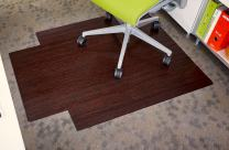 Anji Mountain Standard Bamboo Roll-Up Chairmat, 36 x 48-Inch, 8mm Thick, Dark Cherry