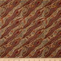 M&S Textiles Spirit Dreaming Fabric, Brown, Fabric By The Yard