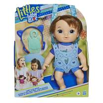 Littles by Baby Alive, Carry 'N Go Squad, Little Matteo Brown Hair Boy Doll, Carrier, Accessories, Toy For Kids Ages 3 years & Up (Amazon Exclusive)