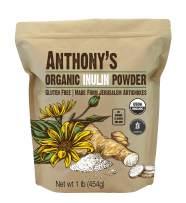 Anthony's Organic Inulin Powder, 1lb, Gluten Free, Non GMO, Made from Jerusalem Artichokes
