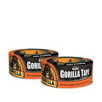 "Gorilla Black Duct Tape, 1.88"" x 12 yd, Black, (Pack of 2)"