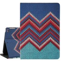 Hi Space iPad 9.7 Inch Case Knitting Pattern Chevron 2018 2017, iPad Air 1/2 5th/6th Gen Case Cover Corner Protection Folio Stand Smart Tablet Cover with Auto Sleep Wake