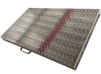 Premium Home Griddle Cover 36 Inch: for Blackstone Griddle, Blackstone Griddle Cover Accessories, Flat Top Griddle/Grill Cover, Great for Outdoors, use as Tabletop, Diamond Plate Aluminum