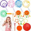 GINMIC Bubble Wands Set, Colorful Bubble Wands Toys, Large Bubble Wands for Kids Toddlers, Giant Bubbles Wands for Outdoor Activity, Birthday & Wedding Party Favors Games