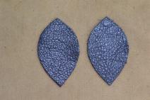 """12pk-Leather Leaf Medium Sapphire Twilight Metallic""""Vegas"""" DIY Earrings"""