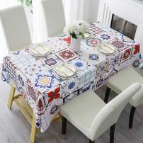 """HMS Happy Memories Tablecloth Original Design Hand Drawing Art Print Table Cloth, Washable Water Resistance Microfiber Decorative Water-Proof Rectangle Table Cover (Tape 2, 60""""x102"""")"""