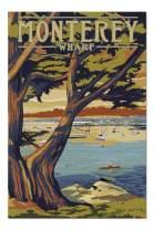 Monterey Wharf, California - Coastal Scene (Premium 1000 Piece Jigsaw Puzzle for Adults, 20x30, Made in USA!)