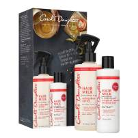 Carol's Daughter Hair Milk Gift Set with Curl Refresher Spray and Original Leave In Moisturizer | for Curly Hair, Coily Hair and Wavy Hair | with Agave and Sweet Almond