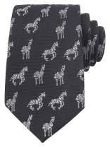 KINGDOM SECRET Men 100% Satin Animal Necktie | Necktie for Animal Personnel | The Zebra Navy Novelty Tie | Gift For Men | Suitable For Business,Weddings And Party …