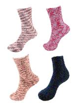 Super Soft Warm Microfiber Fuzzy Socks - 4 Pairs - Value Pack