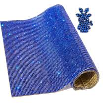 "Locacrystal Bling Rhinestone Sticker DIY Car Decoration Stickers Self-Adhesive Glitter Crystal Gem Sheet Stickers for Car & Crafts Decoration with 19440 Pcs 2mm Rhinestones (Blue,9.4"" x 15.8"")"