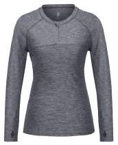 Little Donkey Andy Women's Long Sleeve UPF 50+ Quick Dry Lightweight Yoga Workout Running Sports T-Shirt Top