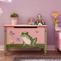 Fantasy Fields - Magic Garden Thematic Kids Wooden Toy Chest with Safety Hinges, Imagination Inspiring Hand Crafted & Hand Painted Details Non-Toxic, Lead Free Water-based Paint