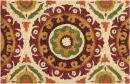 "Waverly Greetings Solar Flair Patchwork/Bohemian Rust Doormat 1'6"" x 2'4"""