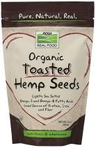 NOW Foods, Organic Toasted Hemp Seeds, Lightly Sea Salted, Gluten-Free, Omega-3 and Omega-6 Fatty Acids, Source of Fiber, Protein and Iron, 12-Ounce