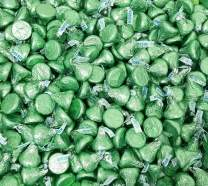 CrazyOutlet Hershey's Kisses Milk Chocolate Light Green Foil, Bulk Candy 2 Lbs