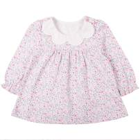 COTTON FAIRY Baby Girl Dresses Long Sleeve Floral Tulle Dresses Outfit