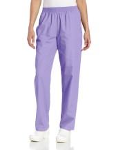 Landau Women's Comfortable Relaxed Fit 2-Pocket Elastic Waist Scrub Pant
