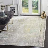 Safavieh Mystique Collection MYS925R Vintage Watercolor Grey and Multi Distressed Area Rug (6' x 9')