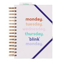 Yes Studio Daily Monday Blink Planner with Bookmark, Hard Cover, and Elastic Closure (AYST048)