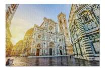 Florence, Italy - The Famous Cathedral of Florence in Piazza del Duomo 9023724 (Premium 1000 Piece Jigsaw Puzzle for Adults, 20x30, Made in USA!)