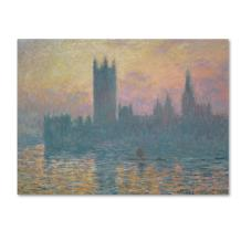 The Houses of Parliament, Sunset Artwork by Claude Monet, 24 by 32-Inch Canvas Wall Art