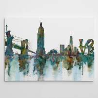 Renditions Gallery NY Skyline Abstract City View Landscape Art Wall Décor for Home, Office, Bedroom, Living Room, 24X32