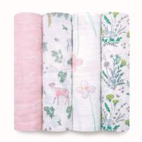 aden + anais Swaddle Blanket | Boutique Muslin Blankets for Girls & Boys | Baby Receiving Swaddles | Ideal Newborn & Infant Swaddling Set | Perfect Shower Gifts, 4 Pack, Forest Fantasy