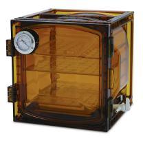 Bel-Art Lab Companion Amber Polycarbonate Cabinet Style Vacuum Desiccator; 35 Liter (F42400-4111)