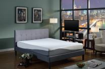 """Swiss Ortho Sleep, 10"""" High-Density, 3 x Layered Gel & Memory Foam Mattress, w/Bamboo Cover"""