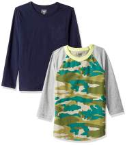 Amazon/ J. Crew Brand- LOOK by crewcuts Boy's 2-Pack Graphic/Solid Long Sleeve T-Shirt