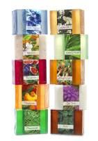Full Bloom Vegetable Glycerin Bar Soap, 10 Bar Sampler Set # 1, Aloha 'Oe, Fig Heaven, Pinewoods, White Horses, Royal Wood, Boho, Mandorla, Tea Time, Clingstone, Century Plant, 4.5oz/127.5g each
