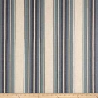 PKL Studio Yucatan Stripe Linen Blue Jean, Fabric by the Yard