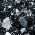 Storm Gray - Fire Glass for Indoor and Outdoor Fire Pits or Fireplaces   10 Pounds   1/4 Inch, Reflective