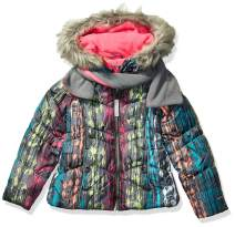 LONDON FOG Girls' Little Winter Coat with Hat & Scarf