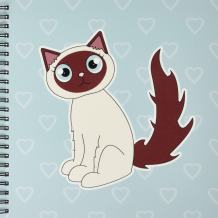 3dRose db_110770_1 Kawaii Cats Cute Siamese Kitty Drawing Book, 8 by 8-Inch