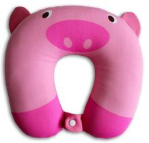 NIDO NEST Kids Travel Pillows for Airplane - Cute U-Shaped Neck Pillow for Cars, Toddlers, Children Birthday Gifts - Pig