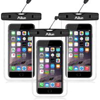 Ailun Waterproof Phone Case 3Pack IPX8 Waterproof Phone Pouch Underwater Protective Dry Bag for iPhone 11/11 Pro/11 Pro Max/Xs Max Xs XR X Galaxy S10 Note 10 for Boating Hiking Swimming Diving Clear