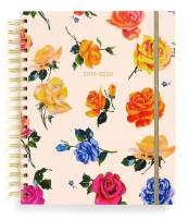 """Ban.do 17 Month 2019-2020 Large Daily Planner with Weekly & Monthly Views, 10"""" x 8"""", Dated August 2019 - December 2020, Coming Up Roses"""