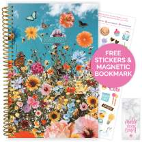 "bloom daily planners 2020-2021 Academic Year Day Planner Calendar (July 2020 - July 2021) - 6"" x 8.25"" - Weekly/Monthly Agenda Organizer Book with Stickers & Bookmark - Wildflowers"