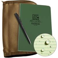 "Rite in the Rain Weatherproof Tactical Field Kit: Tan CORDURA Fabric Cover, 4 5/8"" x 7 1/4"" Green Tactical Notebook, and Weatherproof Pen (No. 980-KIT)"