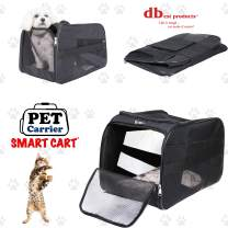 dbest products Pet Smart Cart Carrier, Large, Black, Soft Sided Collapsible Folding Travel Bag, Dog Cat Airline Approved Tote Luggage Backpack