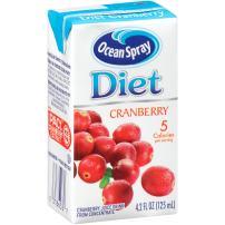 Ocean Spray Diet Juice Drink, Cranberry, 4.2 Ounce Juice Box (Pack of 40)
