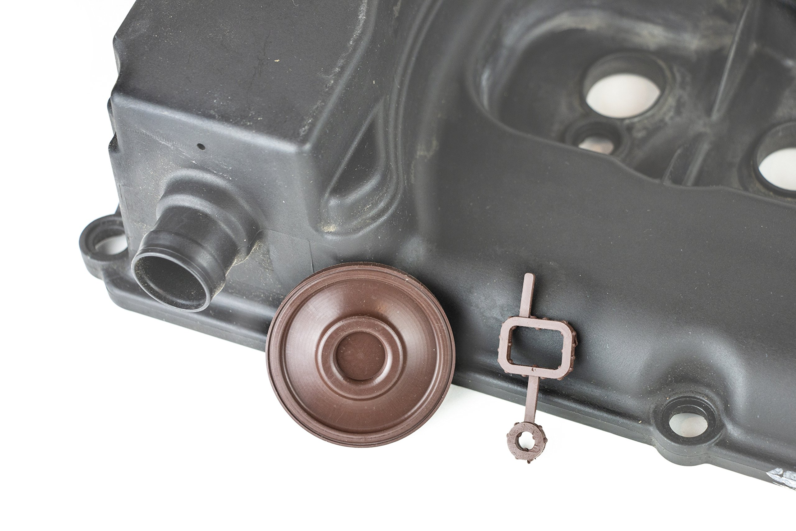 RKX 3.6 & 3.2 Engine Valve Cover PCV Valve Diaphragm membrane and PCV assembly Gasket compatible with VW Audi