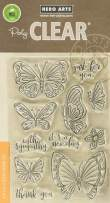 Hero Arts Clear Stamp New Day Butterflie