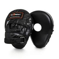Pro Impact Curved Focus Mitts - Shock Absorbent Training Hand Pads - Ideal for Karate Boxing MMA Muay Thai or Fighting Sports Training Genuine and PU Leather