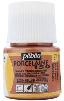 Pebeo Porcelaine 150, China Paint, 45 ml Bottle - Copper Pink