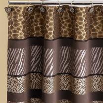 Popular Bath 781205 Safari Stripes, Shower Curtain, Chocolate