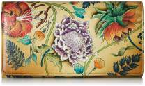 Anuschka Women's Hand Painted Accordion Flap Wallet | Genuine Leather